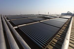 The solar water heating in Zhejiang mingxin leather industry co., Ltd
